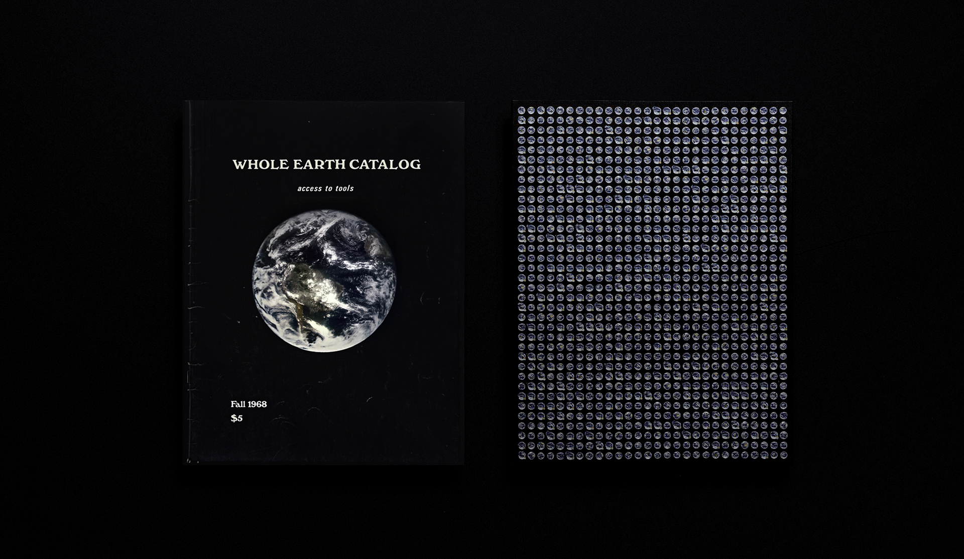 Changing Matter Catalog next to the Whole Earth Catalog