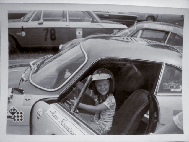 Me in Renault Alpine Race Car, Garmisch, 1971