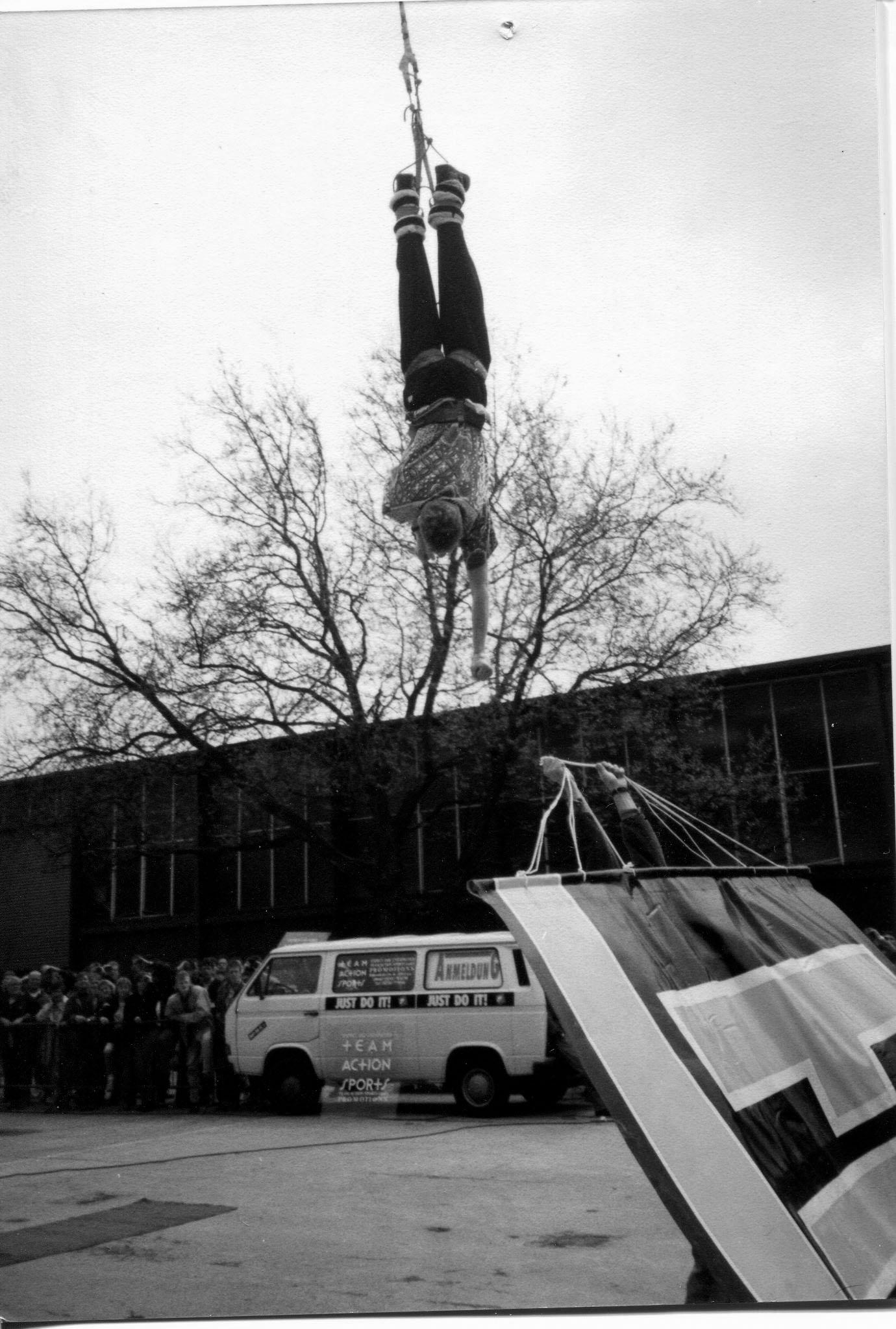 Me @ Bungee Stunt Show, Essen, 1992